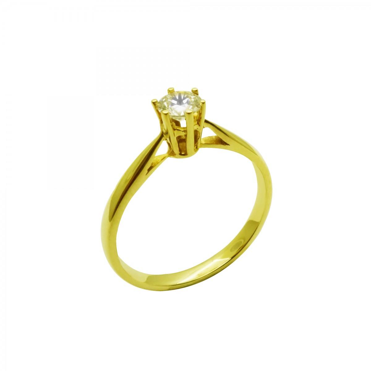 Μονόπετρο δαχτυλίδι χρυσό 18 καράτια με διαμάντι - 742€ fe5c7f341dc