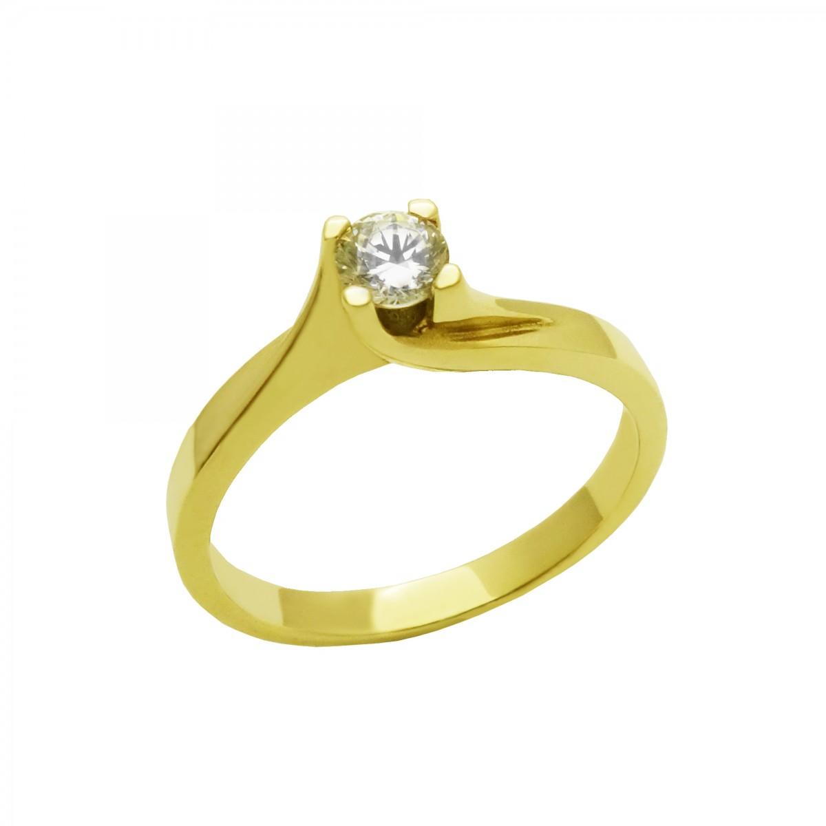 Μονόπετρο δαχτυλίδι χρυσό 14 καράτια με ζιργκόν - 205€ b85b9dbd684