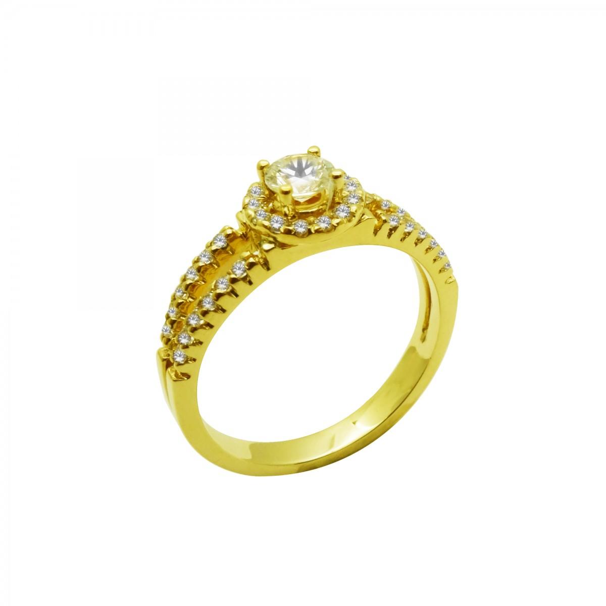 Μονόπετρο δαχτυλίδι χρυσό 14 καράτια με ζιργκόν - 238€ 87c80b9d1ac