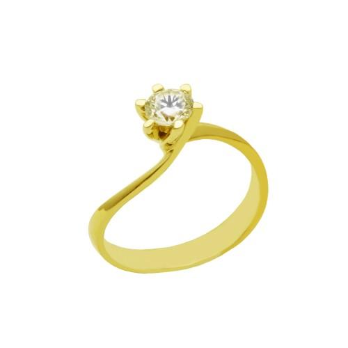 Μονόπετρο δαχτυλίδι χρυσό 18 καράτια με διαμάντι 1df106025bf