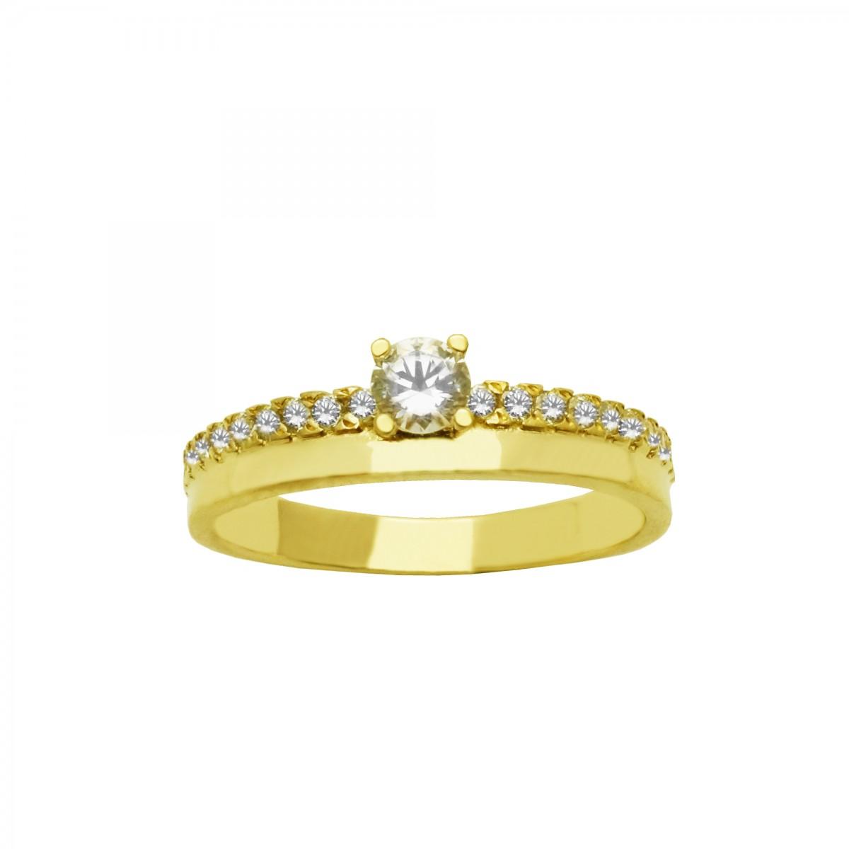 Μονόπετρο δαχτυλίδι χρυσό 14 καράτια με ζιργκόν - 205€ be3a91c0368