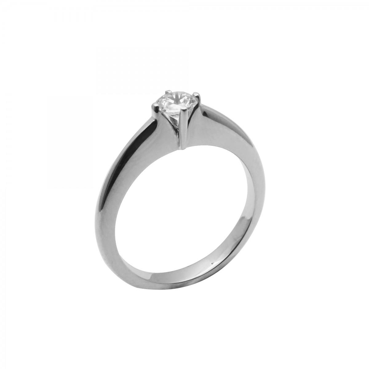 Μονόπετρο δαχτυλίδι λευκόχρυσο 18 καράτια με διαμάντι - 1.168€ 9f5d4da741e