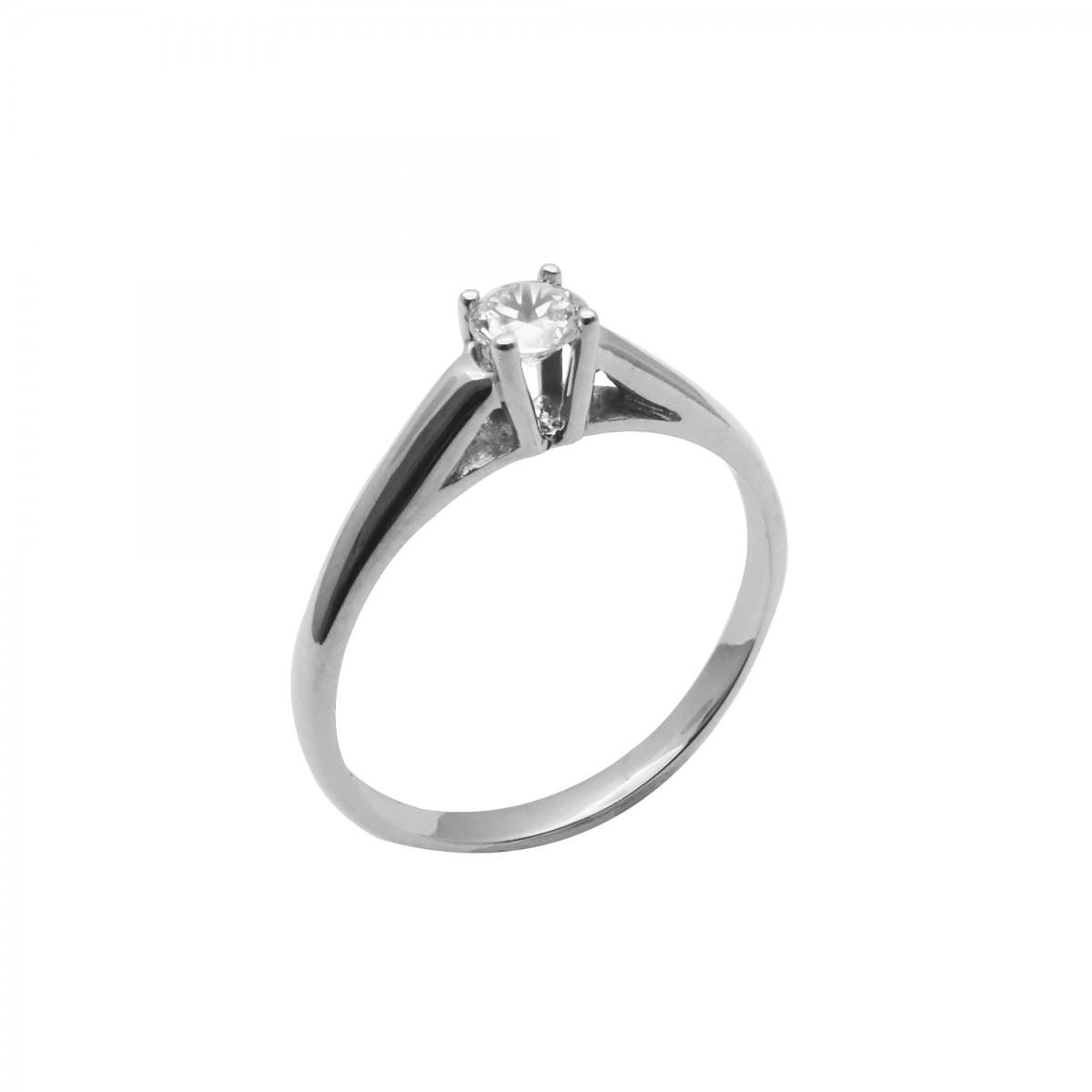 Μονόπετρο δαχτυλίδι λευκόχρυσο 18 καράτια με διαμάντι - 568€ 8471485df82