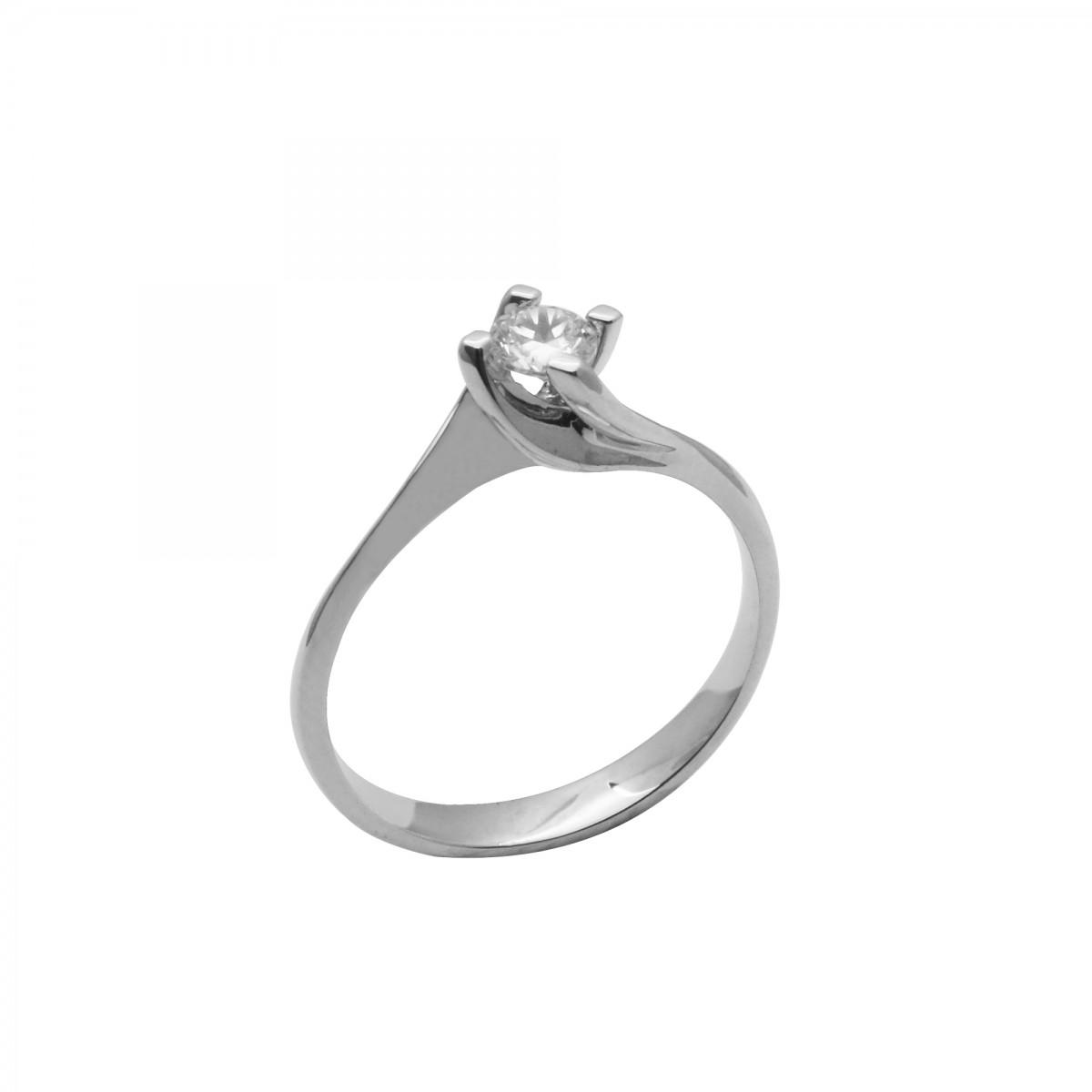 Μονόπετρο δαχτυλίδι λευκόχρυσο 18 καράτια με διαμάντι - 487€ ccd301c083b