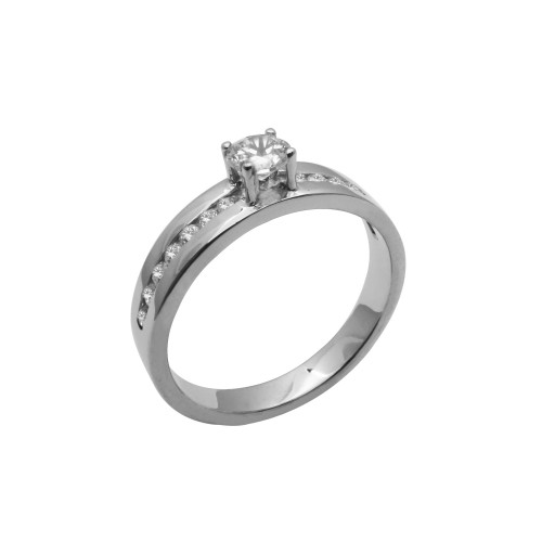 Μονόπετρο δαχτυλίδι λευκόχρυσο 14 καράτια με ζιργκόν 4fe2eda663c