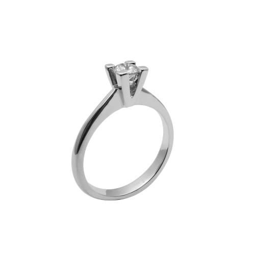 Μονόπετρο δαχτυλίδι λευκόχρυσο 18 καράτια με διαμάντι 5ad360c6d7a