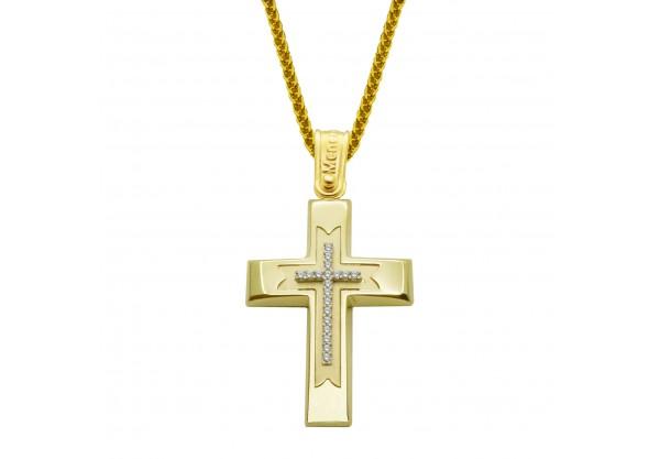 Σταυρός χρυσός 14 καράτια