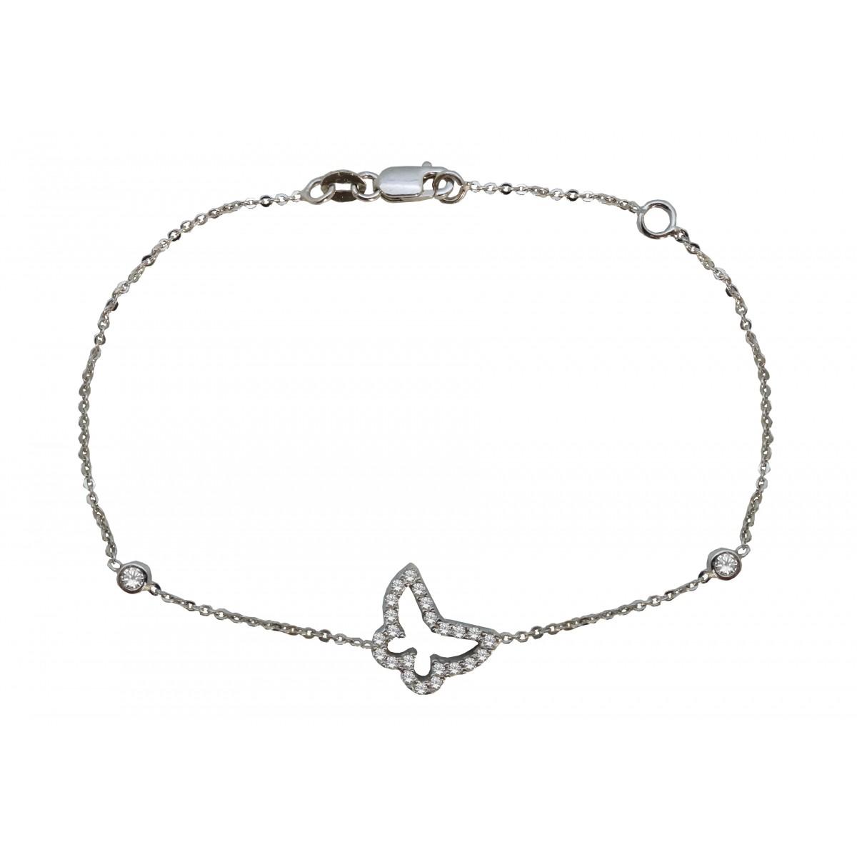 Βραχιόλι γυναικείο λευκόχρυσο πεταλούδα 14 καράτια - 114€ 81193789ab6